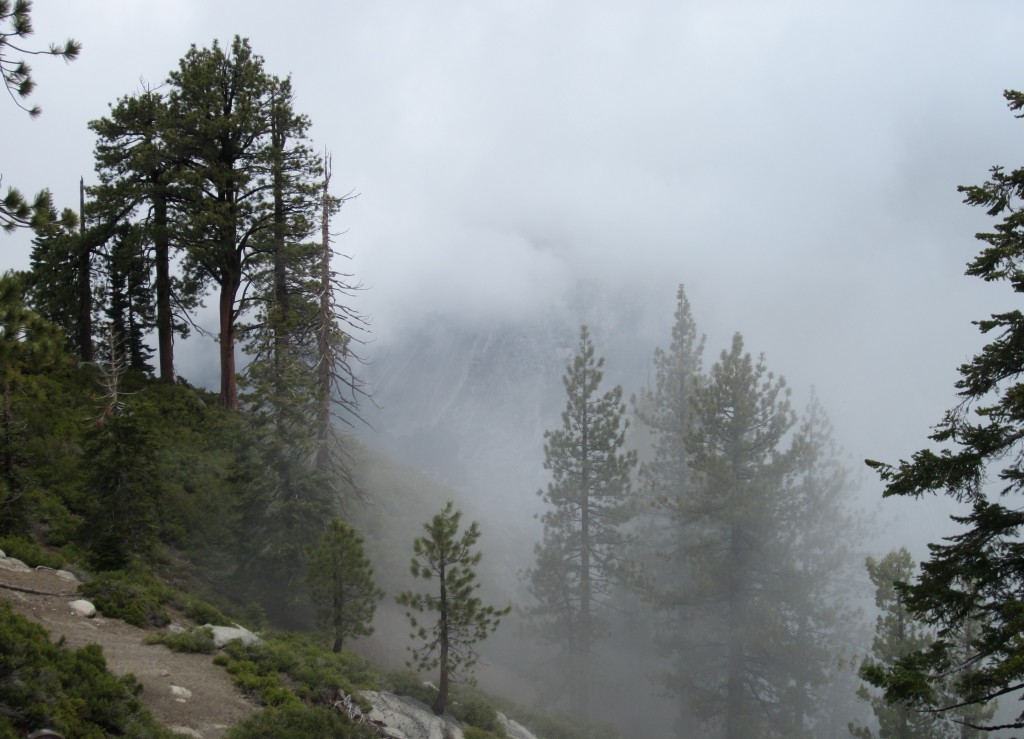 Glacier Point in a Cloud